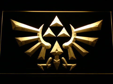 Image of The Legend of Zelda Triforce LED Neon Sign - Yellow - SafeSpecial