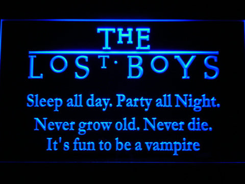 Image of The Lost Boys LED Neon Sign - Blue - SafeSpecial