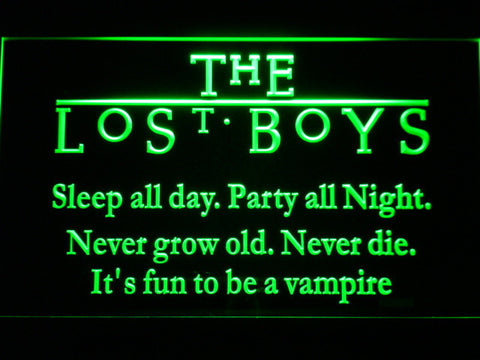 Image of The Lost Boys LED Neon Sign - Green - SafeSpecial
