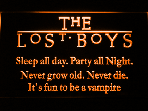 Image of The Lost Boys LED Neon Sign - Orange - SafeSpecial