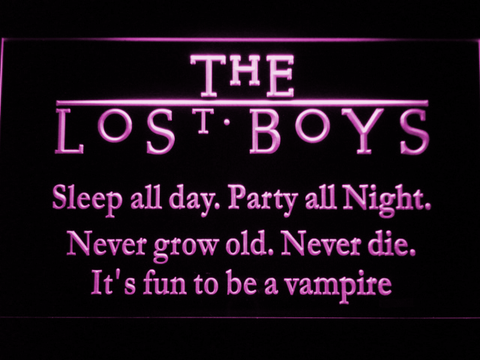 Image of The Lost Boys LED Neon Sign - Purple - SafeSpecial