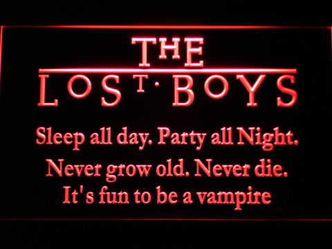 Image of The Lost Boys LED Neon Sign - Red - SafeSpecial
