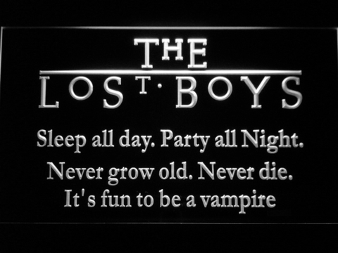 Image of The Lost Boys LED Neon Sign - White - SafeSpecial