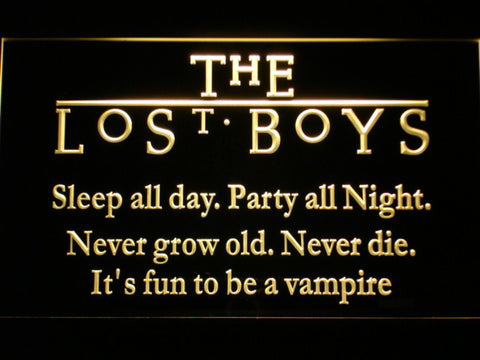 Image of The Lost Boys LED Neon Sign - Yellow - SafeSpecial