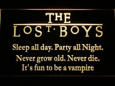 The Lost Boys LED Neon Sign - Yellow - SafeSpecial