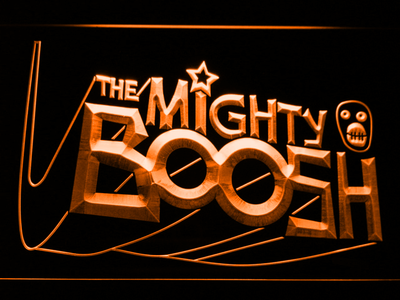 The Mighty Boosh LED Neon Sign - Orange - SafeSpecial