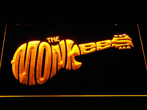 The Monkees LED Neon Sign - Yellow - SafeSpecial