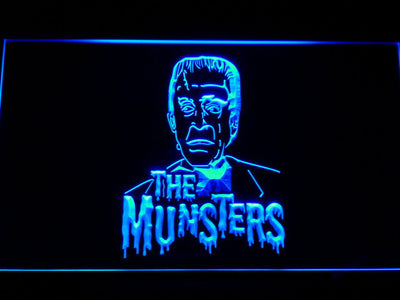 The Munsters Herman LED Neon Sign - Blue - SafeSpecial