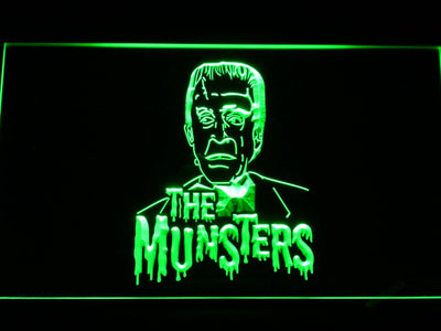 The Munsters Herman LED Neon Sign - Green - SafeSpecial