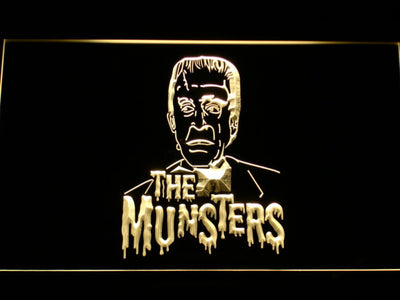 The Munsters Herman LED Neon Sign - Yellow - SafeSpecial