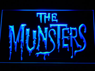 The Munsters LED Neon Sign - Blue - SafeSpecial