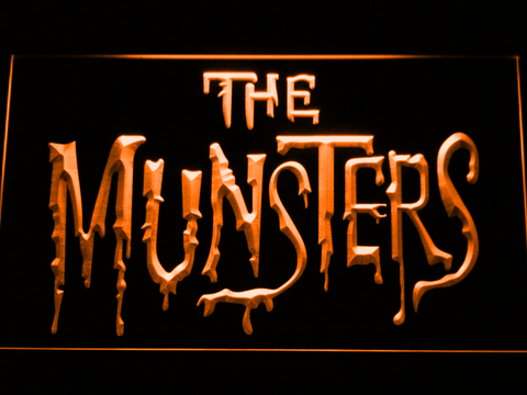 Image of The Munsters LED Neon Sign - Orange - SafeSpecial
