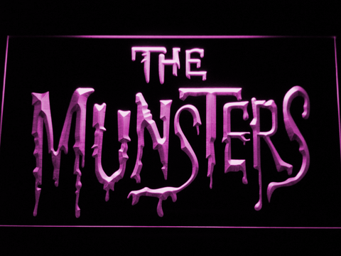 Image of The Munsters LED Neon Sign - Purple - SafeSpecial