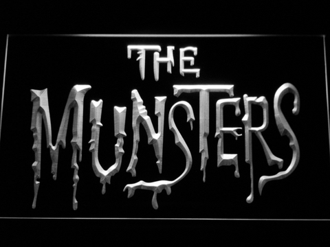 Image of The Munsters LED Neon Sign - White - SafeSpecial