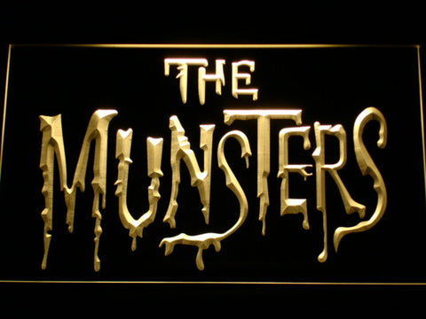 Image of The Munsters LED Neon Sign - Yellow - SafeSpecial