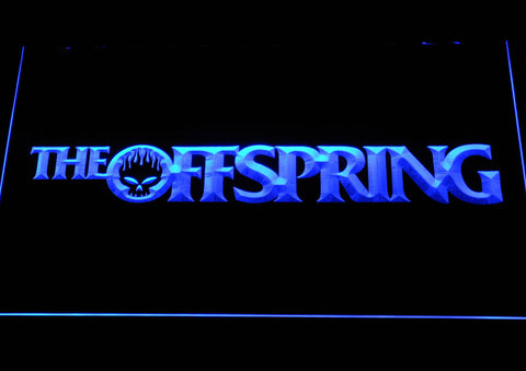 Image of The Offspring Wordmark LED Neon Sign - Blue - SafeSpecial