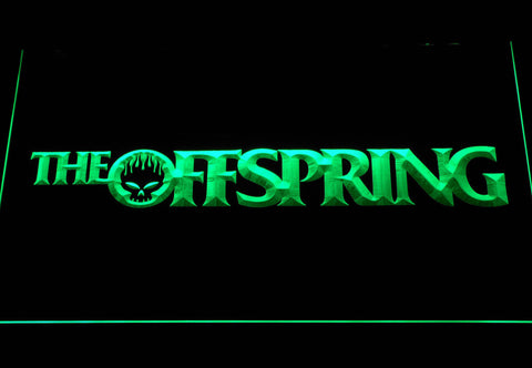 Image of The Offspring Wordmark LED Neon Sign - Green - SafeSpecial