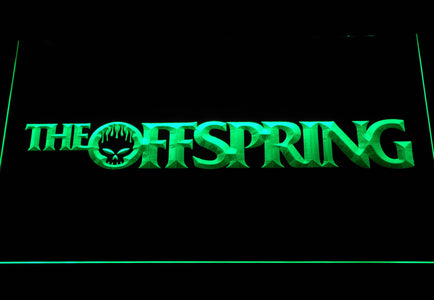 The Offspring Wordmark LED Neon Sign - Green - SafeSpecial