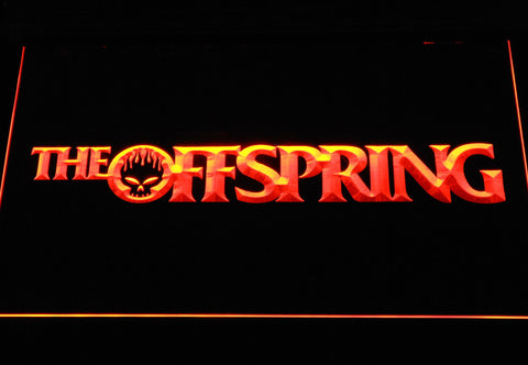 Image of The Offspring Wordmark LED Neon Sign - Orange - SafeSpecial