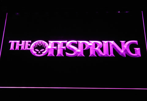 Image of The Offspring Wordmark LED Neon Sign - Purple - SafeSpecial