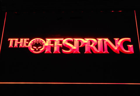 Image of The Offspring Wordmark LED Neon Sign - Red - SafeSpecial