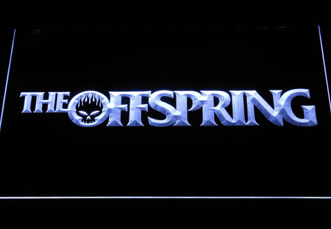 Image of The Offspring Wordmark LED Neon Sign - White - SafeSpecial