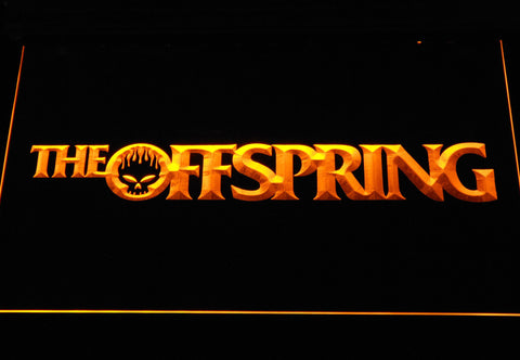 Image of The Offspring Wordmark LED Neon Sign - Yellow - SafeSpecial