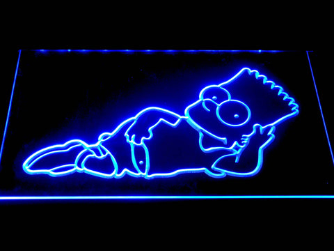 Image of The Simpsons Bart Lounge LED Neon Sign - Blue - SafeSpecial