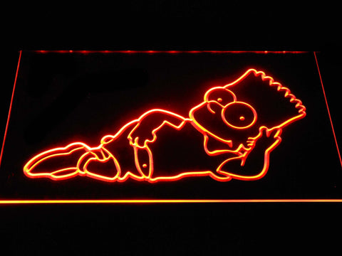 Image of The Simpsons Bart Lounge LED Neon Sign - Orange - SafeSpecial