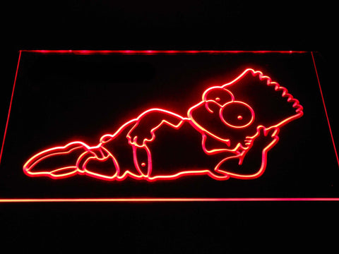 Image of The Simpsons Bart Lounge LED Neon Sign - Red - SafeSpecial