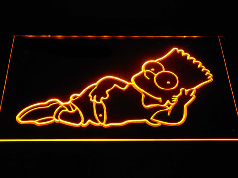 Image of The Simpsons Bart Lounge LED Neon Sign - Yellow - SafeSpecial