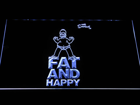Image of The Simpsons Fat and Happy LED Neon Sign - White - SafeSpecial