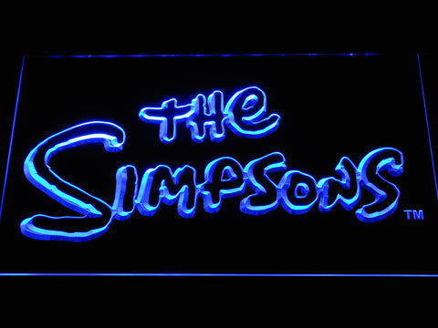 Image of The Simpsons LED Neon Sign - Blue - SafeSpecial