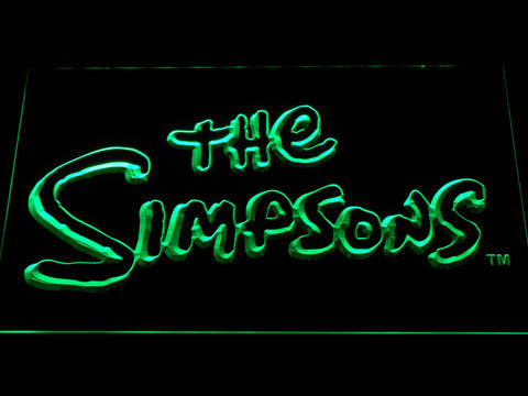 Image of The Simpsons LED Neon Sign - Green - SafeSpecial