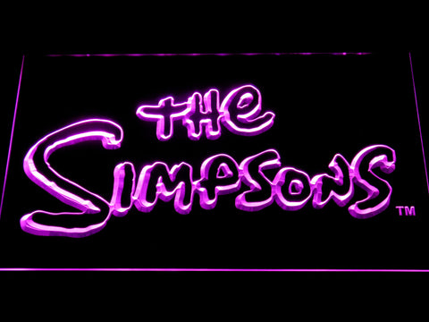 Image of The Simpsons LED Neon Sign - Purple - SafeSpecial