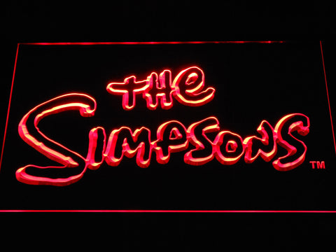 Image of The Simpsons LED Neon Sign - Red - SafeSpecial