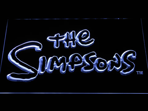 Image of The Simpsons LED Neon Sign - White - SafeSpecial
