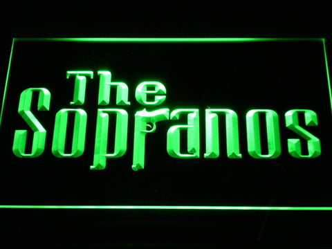 Image of The Sopranos LED Neon Sign - Green - SafeSpecial