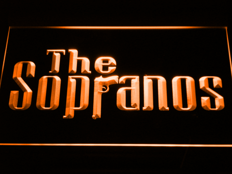 Image of The Sopranos LED Neon Sign - Orange - SafeSpecial