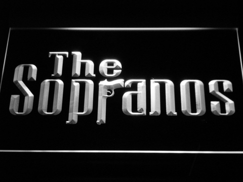 Image of The Sopranos LED Neon Sign - White - SafeSpecial