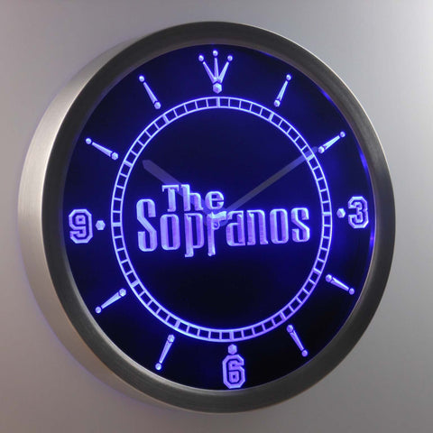 Image of The Sopranos LED Neon Wall Clock - Blue - SafeSpecial