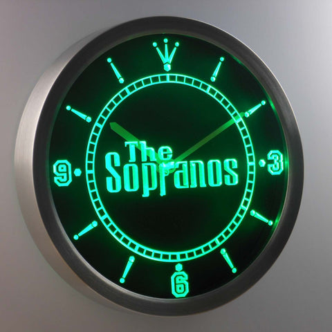 Image of The Sopranos LED Neon Wall Clock - Green - SafeSpecial