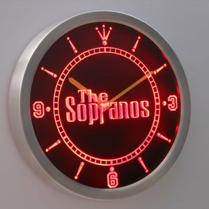 The Sopranos LED Neon Wall Clock - Red - SafeSpecial