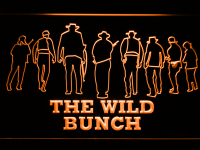The Wild Bunch LED Neon Sign - Orange - SafeSpecial