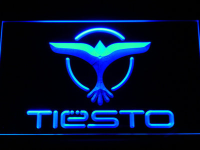 Tiesto LED Neon Sign - Blue - SafeSpecial