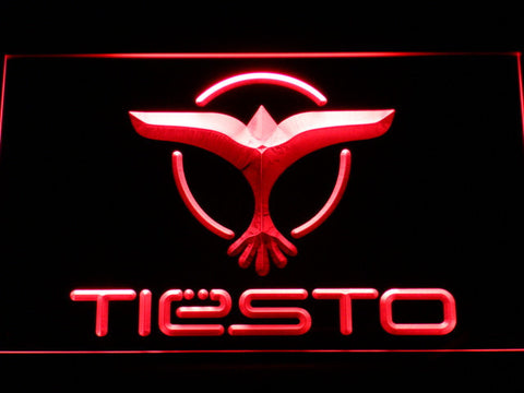 Tiesto LED Neon Sign - Red - SafeSpecial
