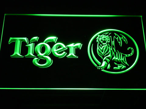 Tiger LED Neon Sign - Green - SafeSpecial