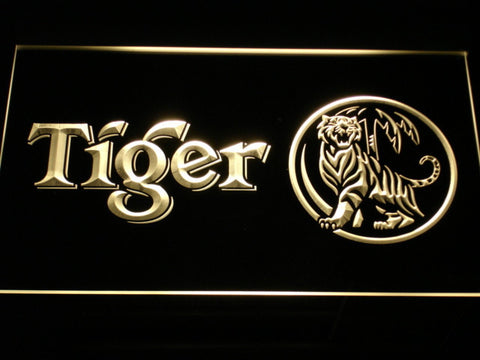 Tiger LED Neon Sign - Yellow - SafeSpecial