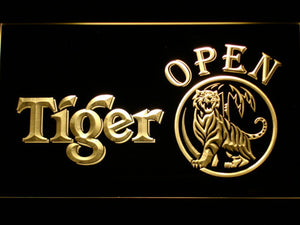 Tiger Open LED Neon Sign - Yellow - SafeSpecial