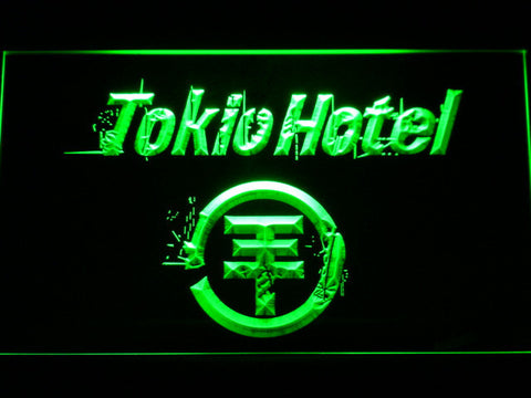 Tokio Hotel LED Neon Sign - Green - SafeSpecial